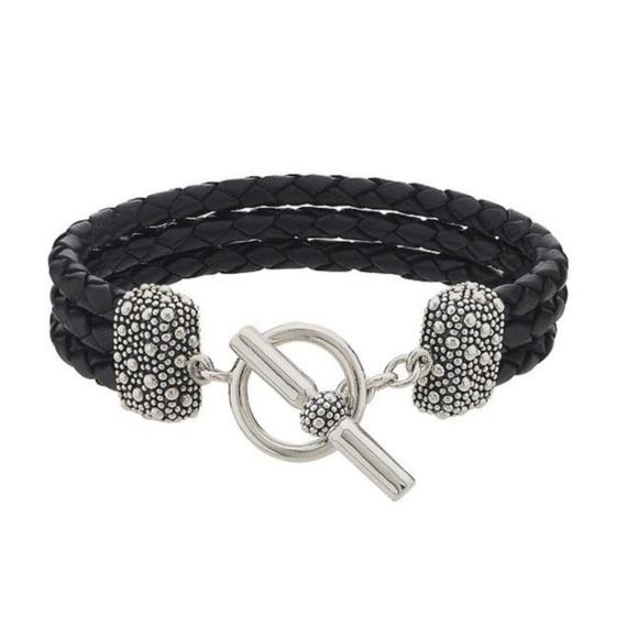 Michael Dawkins Jewelry Leather Sterling Silver Bracelet Poshmark